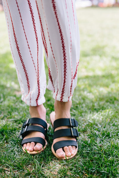 Trio Banded Sandals - Swoon Boutique