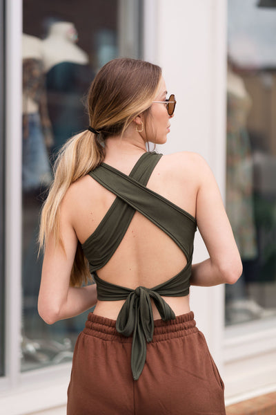 The Jules Wrap Back Top