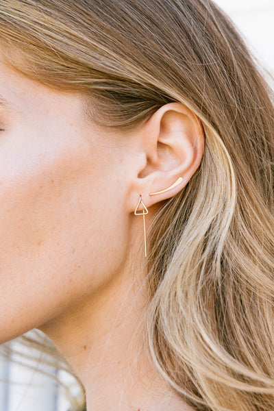 Heir Geo Thread Earrings