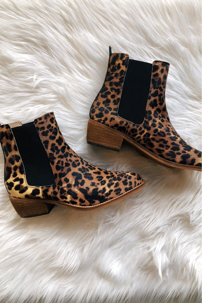 The Isabelle Leopard Booties