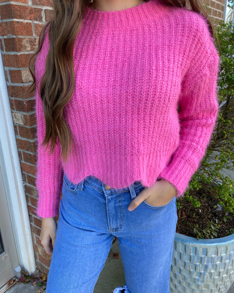 Won't Stop Hot Pink Sweater