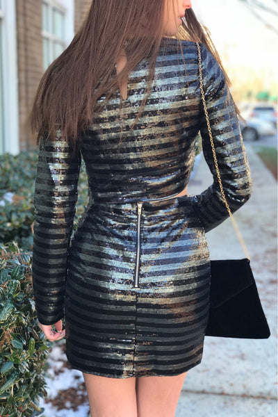 Ring It In Sequin Skirt