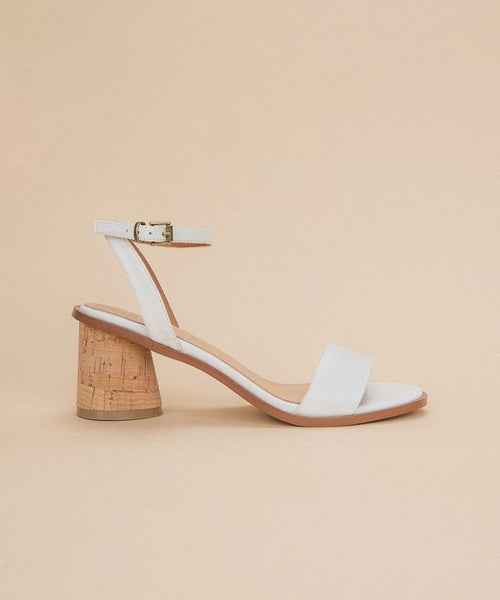 Little White Cork Heels