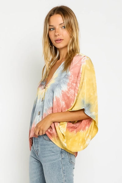 Sunset Waves Tie Dye Top