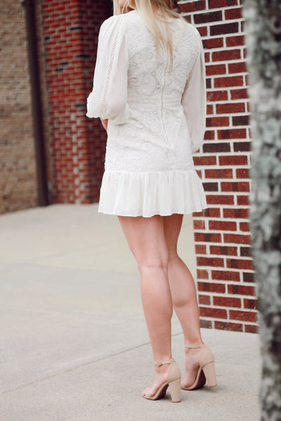Higher Love Crochet Dress