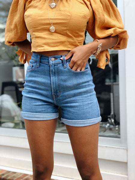 Manhattan Mom Jean Shorts