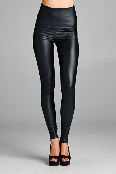 Oil Slick Leather Leggings