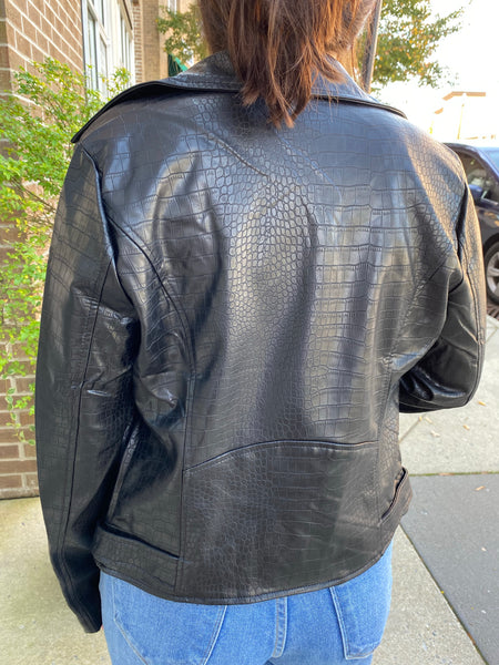 Hot Stuff Croc Leather Jacket
