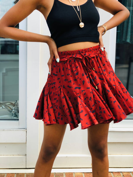 Spotted Ruffle Skirt