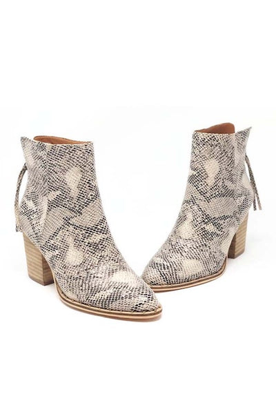 The Greenwich Snakeskin Booties