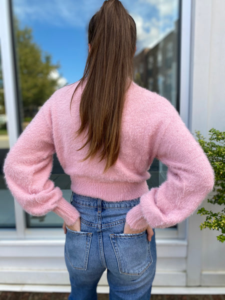 Cotton Candy Fuzzy Sweater