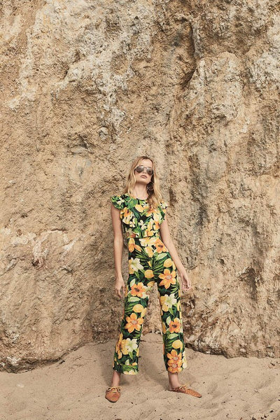 Tropicana Ruffle Jumpsuit - Swoon Boutique