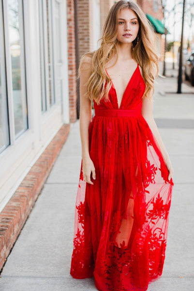 Firefall Tulle Maxi dress