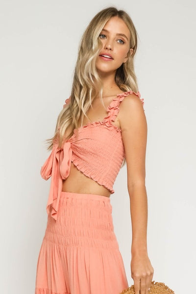 Samara Smocked Crop Top