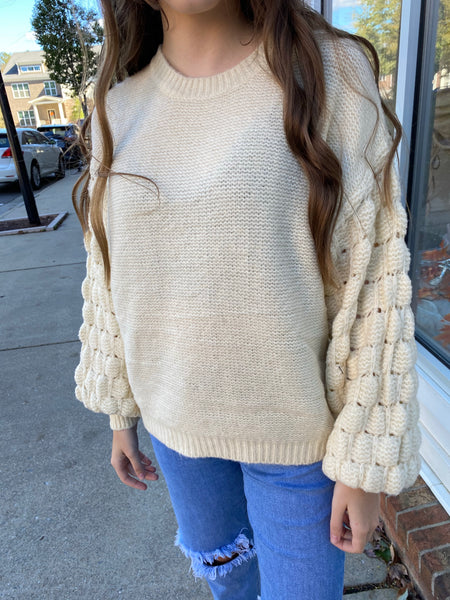 Arms Around Me Bubble Sweater