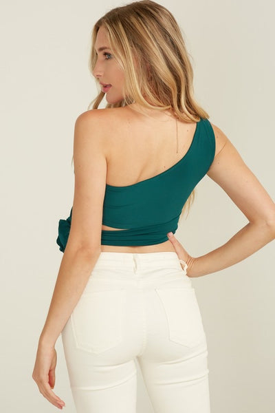 The Kim One Shoulder Wrap Top