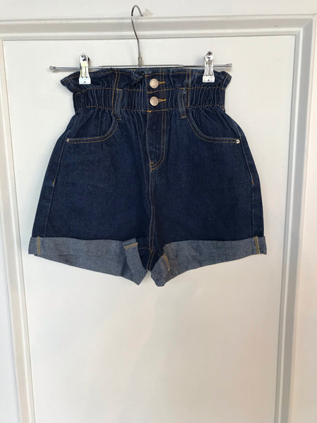 The Venice Paperbag Waist Denim Shorts