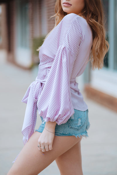 Lilac Lover Wrap Top