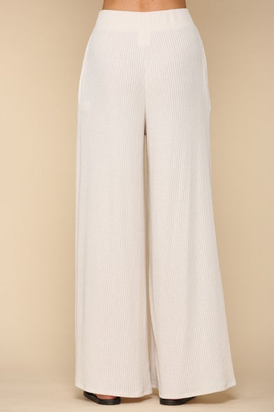 Oatmilk Ribbed Pants