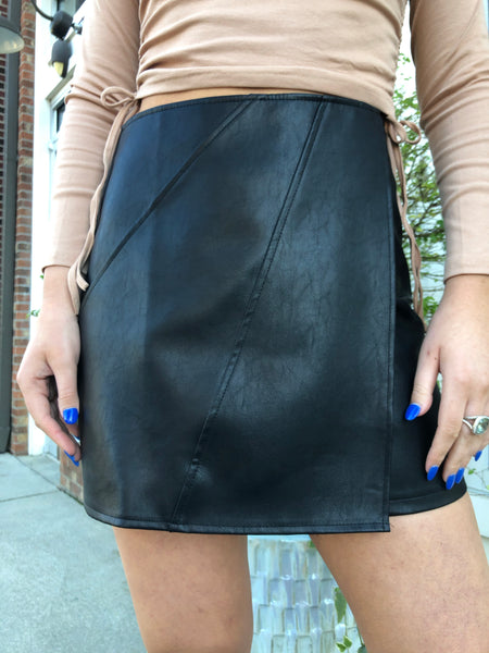 Savage Love Faux Leather Skirt