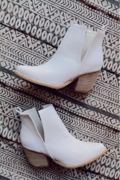 The Jeffrey Snake Booties