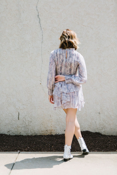 Keep The Faith Snakeskin Dress