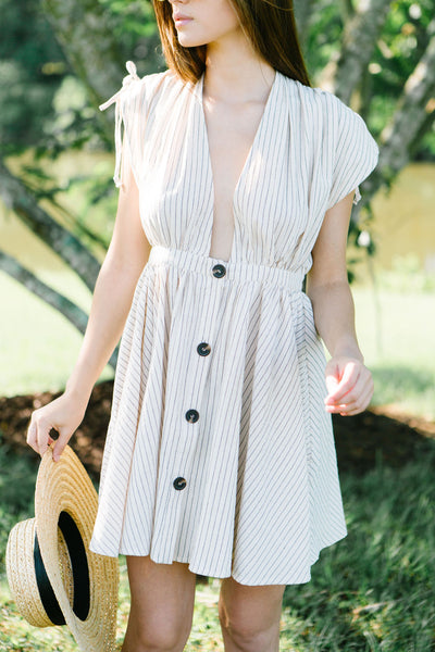 Sunday Brunch Striped Dress