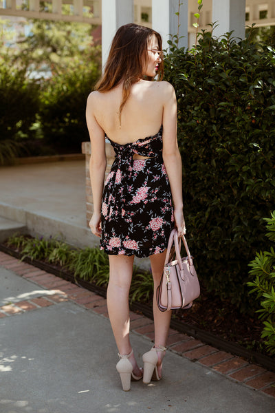 Duke Gardens Strapless Floral Dress