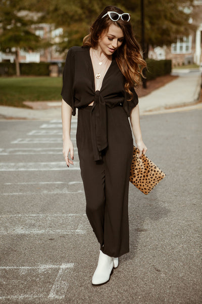 The Blake Tie Front Jumpsuit