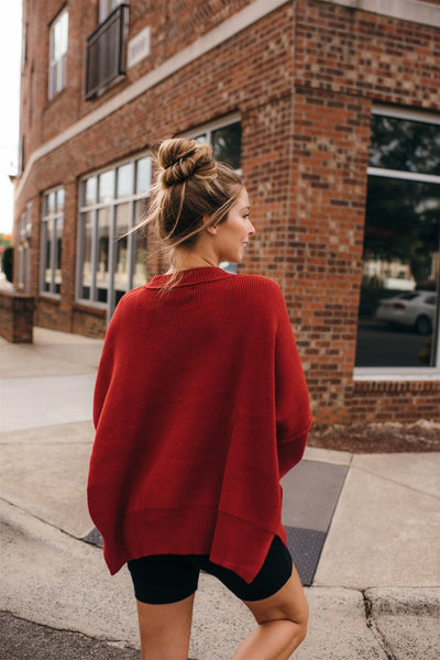 Ruby Balloon Sleeve Sweater