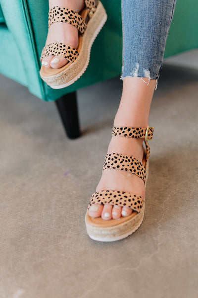 The Cat Cheetah Espadrille Wedges