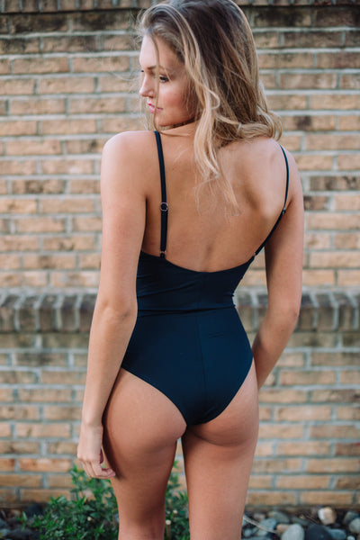Dominica Tie Up One Piece Bathing Suit - Swoon Boutique
