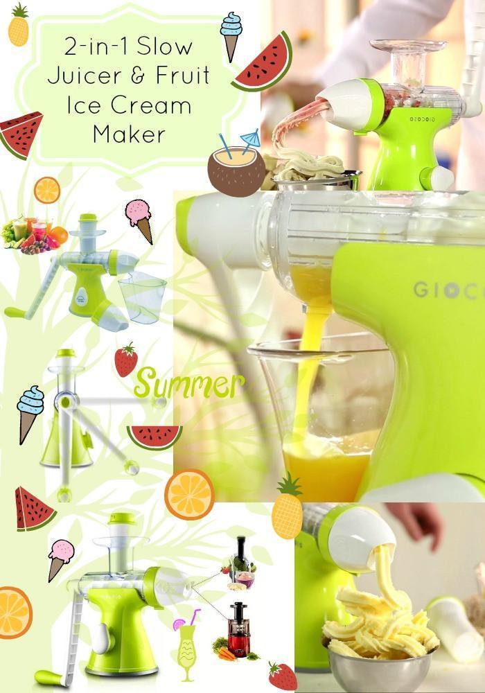 Introducing 2-in-1 Slow Juicer & Fruit Ice Cream Maker