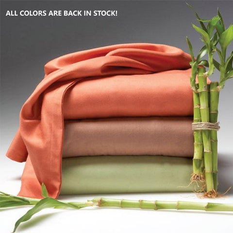 Luxury 6-Piece Super Soft Deep-Pocket Bamboo Bed Sheet Set - Assorted Colours