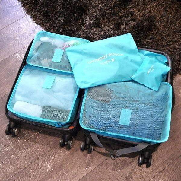 8upsell - 6-Piece Water Resistant Travel Bag And Luggage Organizer Set