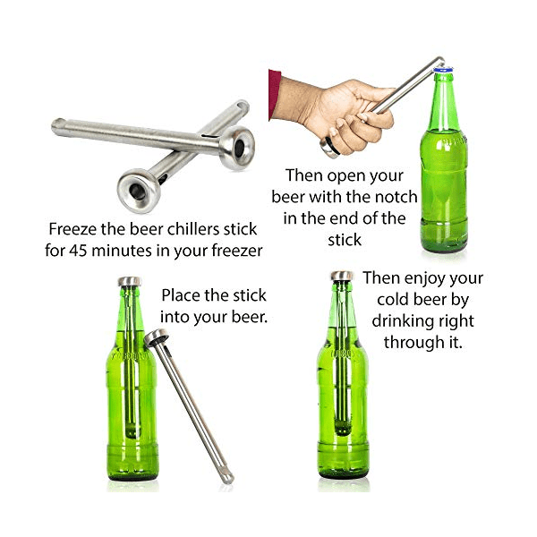 2 Pack: Stainless Steel Beer Chillers