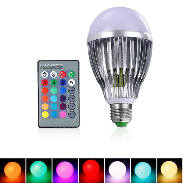 Color-Changing LED Bulb Light W/ Remote