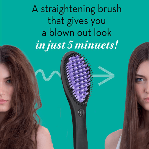 Hair Straightening Ceramic Brush - Buy 1 Get 1 Free