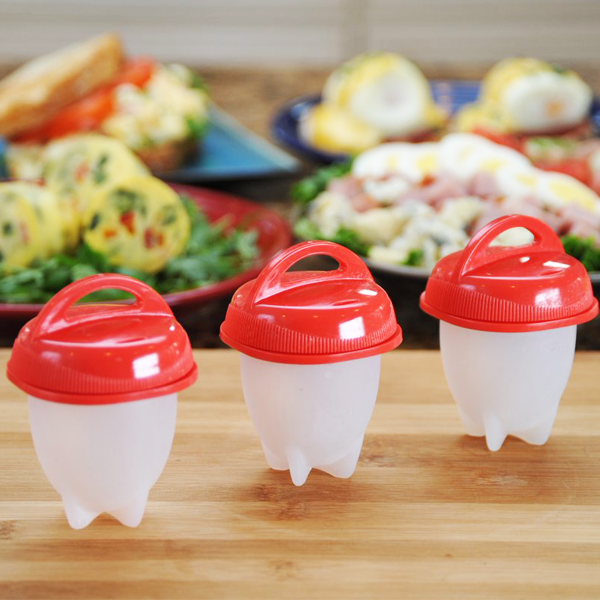 Non-Stick Silicone No-Peel Hard-Boiled Egg & Mini Omelet Pod Cookers