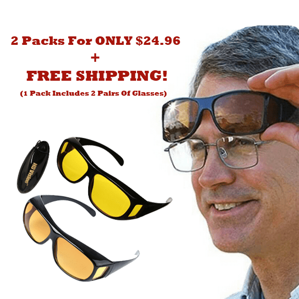 """Day & Night Clear Vision Driving Glasses "" - BOGO + Free Shipping!"