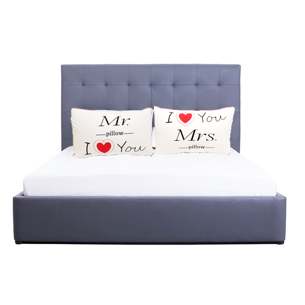 """I love you"" Pillow Set Perfect for Couple, Newlyweds and Honeymoon Decor"