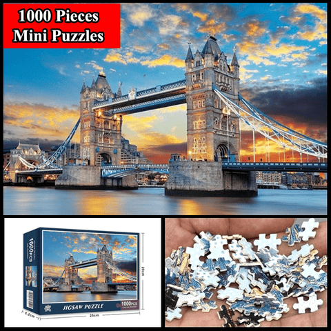 """London Bridge"" 1000 Pieces Mini Jigsaw Puzzles"