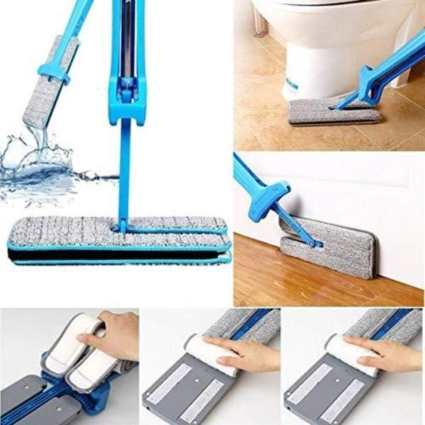 360 Degree Double Sided Microfiber Mop with Stainless Steel Handle