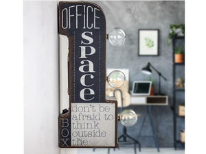 Vintage Metal Marquee LED Sign - Office Space