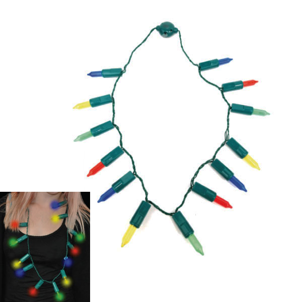 LED Icicle Lights Holiday Party Necklace - Multi-Packs Available!