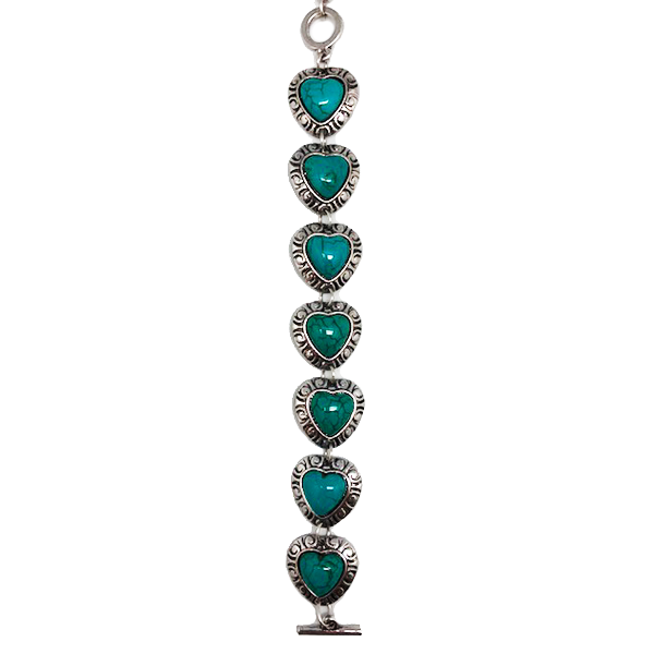 Bohemian Hearts Statement Bracelet - Assorted Colors