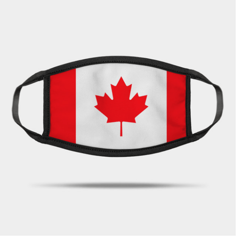 2 Pack: Canadian Flag Print Cotton Face Mask