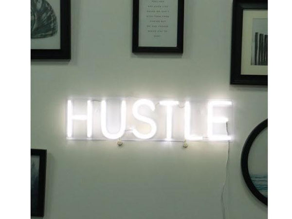 HUSTLE Super Bright LED Neon Light Sign
