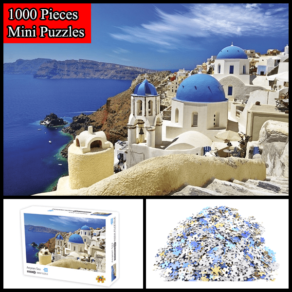 """Aegean Sea"" 1000 Pieces Mini Jigsaw Puzzles"