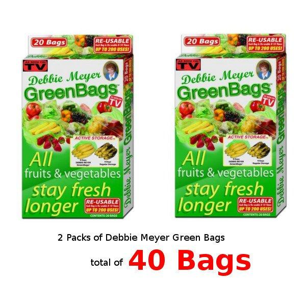 All Deals - 2 Packs Debbie Meyer GreenBags - (40 Bags)
